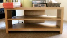 Oak effect corner TV unit from Next