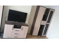 Wardrobe wall unit tv desk; set of 3 furniture
