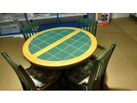 Dining Table & 4 Chairs - Solid wood