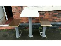 Table and bench set for takeaway restaurants catering pub bar cafe fastfood