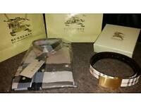 Burberry shirt and Belt set