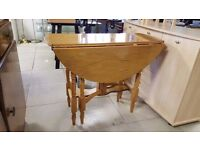Round Folding Pine Table - Great Condition