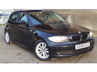 2008 08 BMW 116I ES BLACK 5DR MOT 01/18 (CHEAPER PART EX WELCOME)