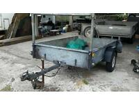 Excellent ifor williams pe6 6ft X 4ft unbraked 750 kg droptailgate trailer with fitted cover no vat