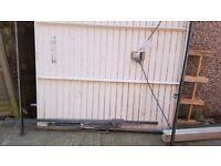 Metal garage door Hormann series 2000 up and over recently dismantled