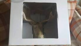 moose wooden head