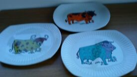 Vintage Beefeater plates.