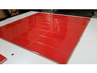 Glazed ceramic wall tile boxed in red (new)
