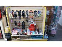 Used shop slated display gondola