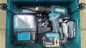 New Makita DHP459RMJ 18v Cordless li-ion 13mm 2-speed Combi Drill (2 x 4 Ah Batteries)