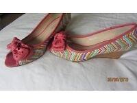 Colourful ladies shoes