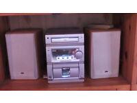 Silver Radio + 2 speakers - stereo