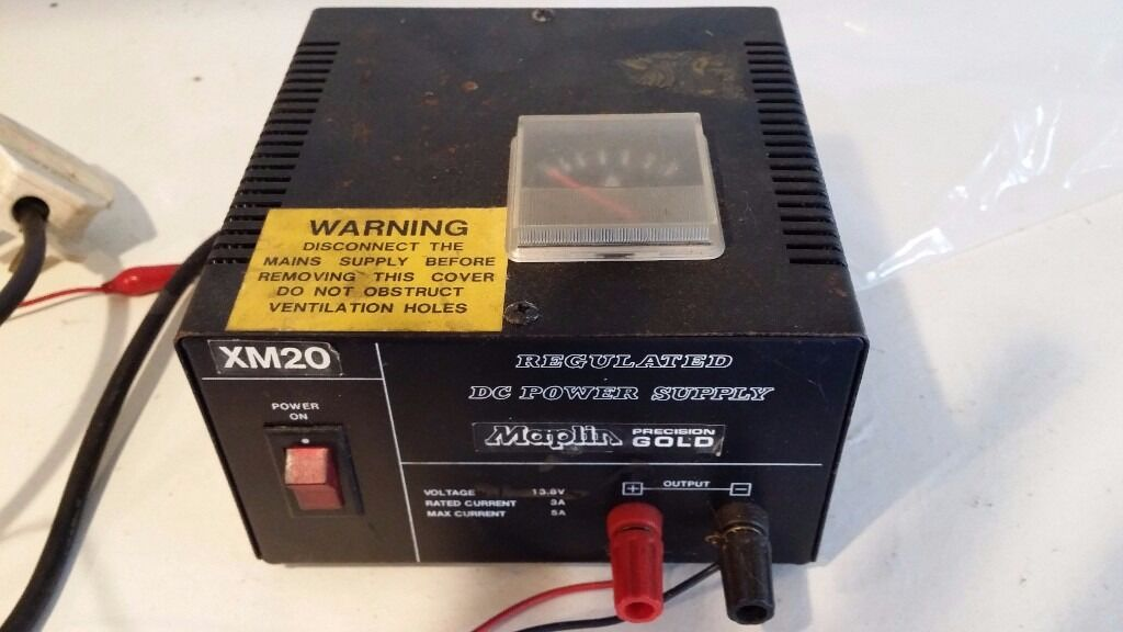 Maplin DC REGULATED POWER SUPPLY UNIT TO 13.8V D.C., 3 to 5AMPS