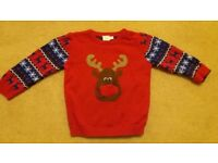 Mini Club 12-18 mths Christmas Reindeer jumper