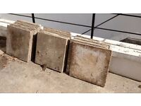 22 used concrete slabs