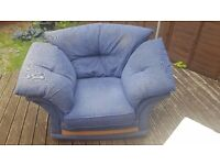 Large blue sofa armchair £10 ono