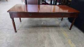Dark Wood Coffee Table with Drawers