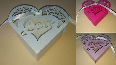 Geschenkbox Papierherz Deko Hochzeit Liebe Love Geschenkidee Verpackung ()