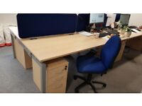 Bulk Office Furniture for Sale! - set of Approx 50 Desks, Pedestals, Chairs etc