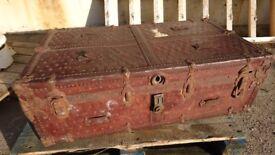 Vintage steamer chest