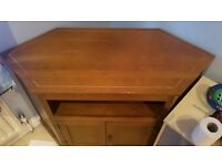 Wooden corner unit/ TV stand