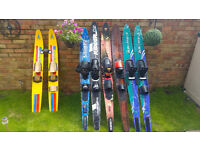 Waterskis job lot O'Brian, Cascade, trainer skis