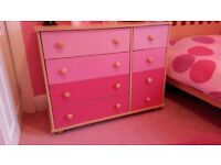 Pink Childrens Room Chest Of Drawers