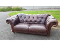 Chesterfield leather sofa.Barker & Stonehouse.