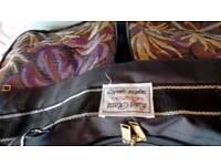 Luigi Rossi black heavy duty canvas bag