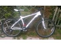 Mens Carrera valour mountain bike for sale,only used once!