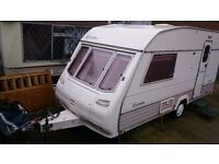 2 Berth Caravan Sterling Europa Contrast 1995 READY FOR USE up and Running Awning / Annex Pyramid