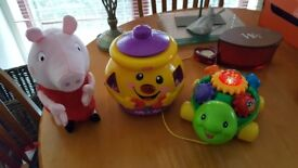 Mixture of baby toys