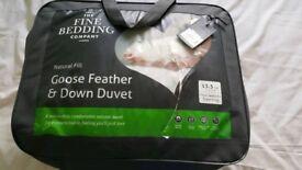 BNIB Superking four seasons Goose Feather and Down Duvet.