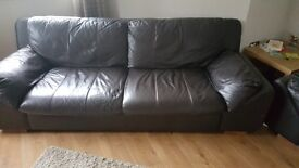 2x large leather sofas