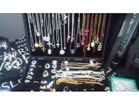 REDUCED Joblot Jewellery rings, necklaces, bangles 925 silver, filled gold, black gold,watchesunisex
