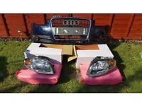 Audi a4 b7 bumper and & headlights used