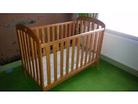 East Coast Baby Cot and mattress
