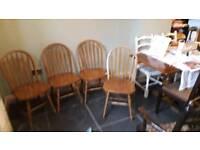 4 farmhouse style chairs