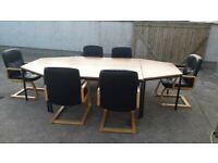 Office Furniture Board Room Conference Tables With 6 Chairs