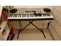 Keyboard, lightning keys. Piano.