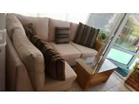 Cream corner sofa with Matching large coffee table