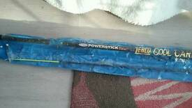 Quantity of beach casting fishing rods and 4 keepnets