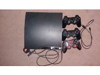 Ps3 For Sale In Good Condition 2 original dualshock pad and 1 extra + 7 games