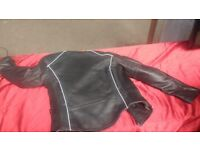 MOTORBIKE JTS LADIES COWHIDE LEATHER MOTORCYCLE GINA JACKET CE ARMOUR SIZE UK-8 AVAILABLE FOR SALE