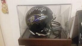 Signed Ray Lewis mini helmet