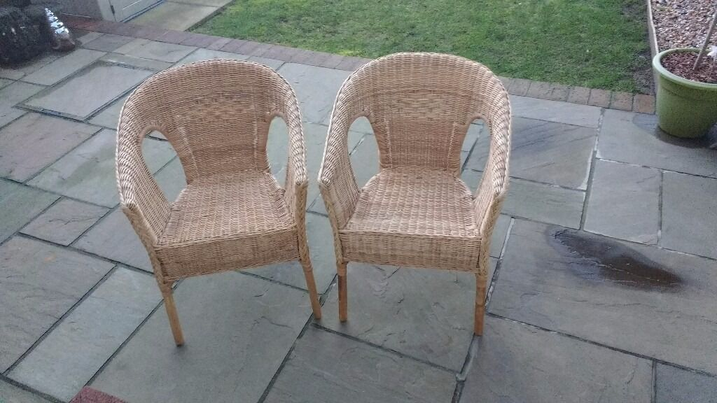 Armchairs (2 x wicker chairsin Whitehill, HampshireGumtree - Two very nice wicker chairs in good condition, were both in the kitchen but now need the space. £15 each or £25 for the pair