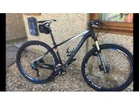 Cube Reaction pro carbon mountain bike.