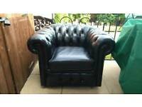 Original Vintage Chesterfield Leather Club Chair