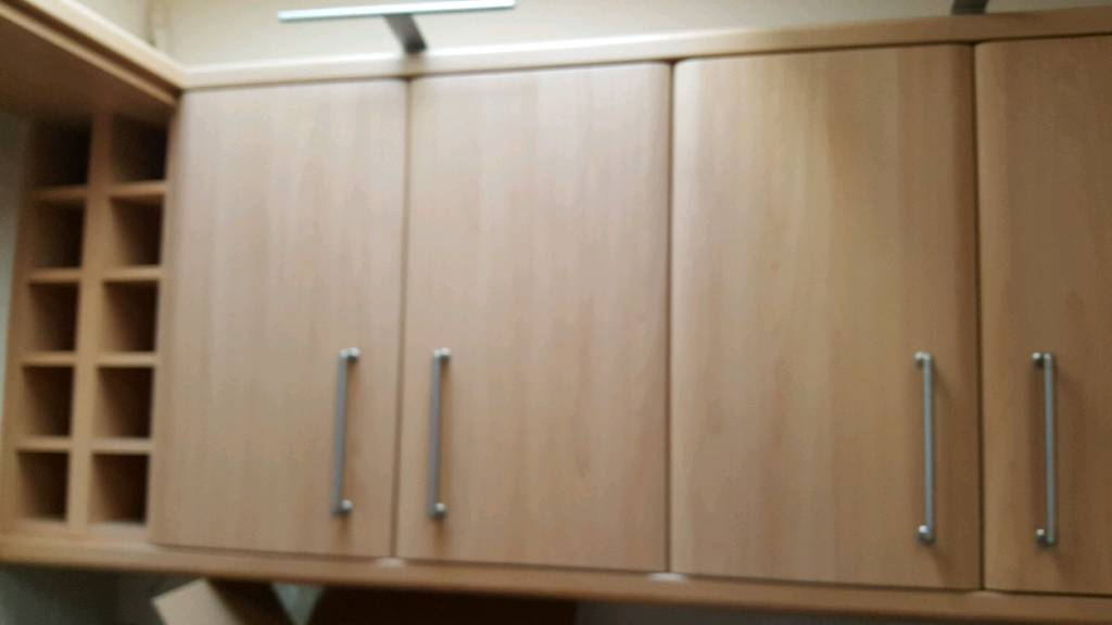 24 X Kitchen Cabinet Doors Finished In Light Beech Used But In Good