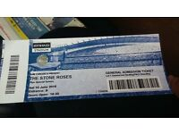 1 Stone Roses ticket for sale tonight etihad stadium £80 collection Liverpool, standing